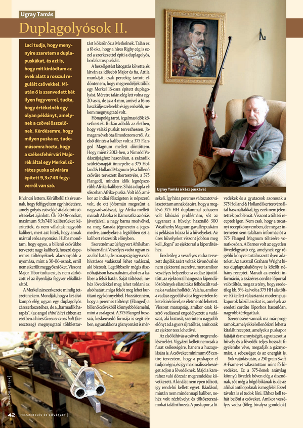 Ugray Tamás duplagolyós puskája a NIMRÓD 2013/4 számában