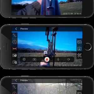 Applikáció az AimCam lövész szemüveg és akciókamerához